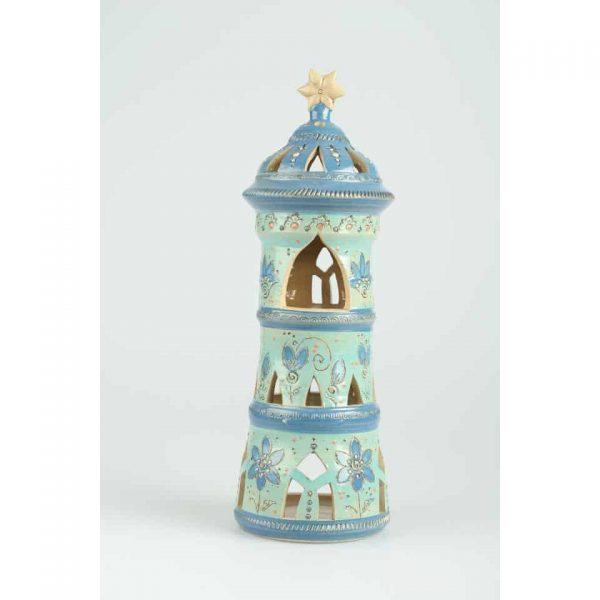 Töpferei Drehwurm Lichterhaus Turm für Teelicht