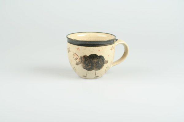 Töpferei Drehwurm Tasse mit Schaf