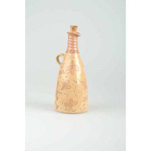 Töpferei Drehwurm Flasche gerade orange