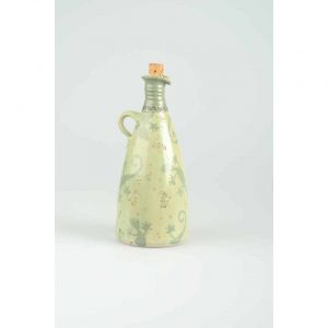 Töpferei Drehwurm Flasche gerade grün