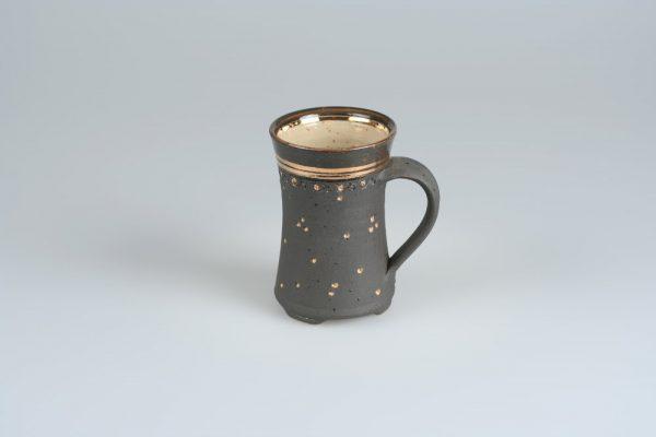 Töpferei Drehwurm Tasse Gold
