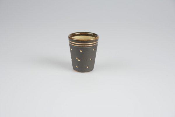 Töpferei Drehwurm Schnapsbecher klein gold