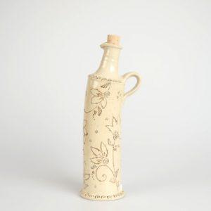 Töpferei Drehwurm eckige Flasche