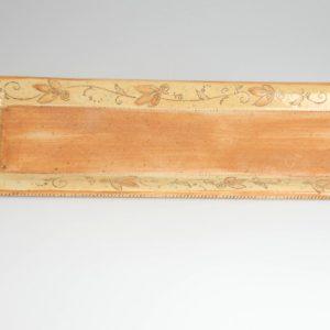 Töpferei Drehwurm Servierplatte orange