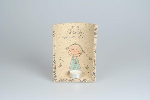 Töpferei Drehwurm Wandlampe für Teelicht