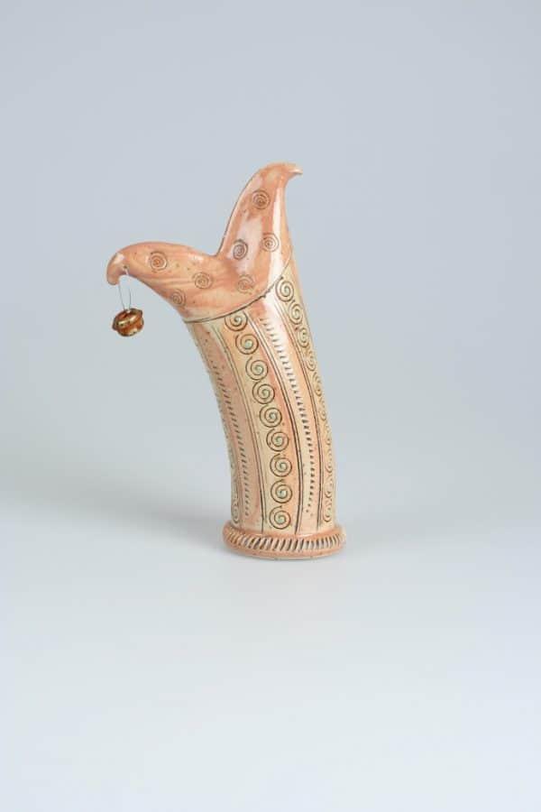 Töpferei Drehwurm Zaunhocker Tier